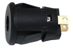 1.65 mm Center Pin, 2.0 A, Vertical, Panel Mount (Snap-In), DC Power Jack