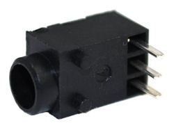 1.3 mm Center Pin, 0.5 A, Right Angle, PCB Mount, DC Power Jack