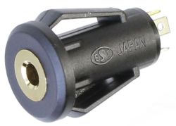 2.5 mm, Vertical, Stereo Jack - Snap-In