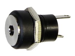 0.65 mm Center Pin, 2.0 A, Vertical, Panel Mount, DC Power Jack