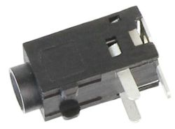 2.5 mm, Right Angle, Stereo Jack - PCB Mount