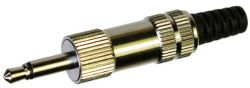 3.5 mm, Vertical, Mono Plug w/Shielded Handle and Strain Relief