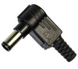 2.1 x 5.5 mm, 1.0 A, Right Angle, DC Power Plug