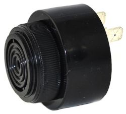 43 mm Piezo Audio Indicator, 6~28 VDC, 85 dB, 2.9 kHz, Fast Pulse, Quick-Connect Tabs