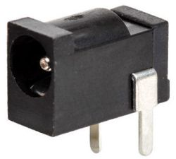 1.3 mm Center Pin, 5.0 A, Right Angle, PCB Mount, DC Power Jack