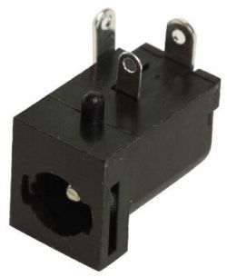 2.5 mm Center Pin, 5.0 A, Right Angle, PCB Mount, Locking DC Power Jack