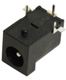 2.0 mm Center Pin, 5.0 A, Right Angle, PCB Mount, DC Power Jack