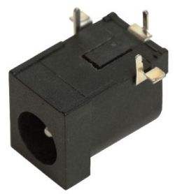 2.5 mm Center Pin, 5.0 A, Right Angle, PCB Mount, DC Power Jack