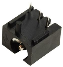 2.5 mm Center Pin, 5.0 A, Right Angle, PCB Mount, Low Profile, Off Center, DC Power Jack