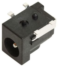 2.0 mm Center Pin, 5.0 A, Right Angle, Surface Mount (SMT), DC Power Jack