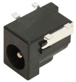 2.5 mm Center Pin, 5.0 A, Right Angle, Surface Mount (SMT), DC Power Jack
