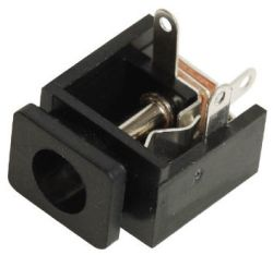 2.5 mm Center Pin, 5.0 A, Panel Mount, DC Power Jack