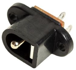 2.35 mm Center Pin, 5.0 A, Vertical, Panel Mount, DC Power Jack