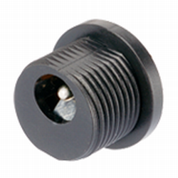 2.5 mm Center Pin, 5.0 A, Vertical, Panel Mount, Threaded, DC Power Jack