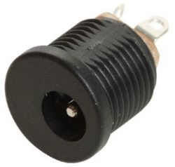 2.0 mm Center Pin, 5.0 A, Vertical, Panel Mount, Threaded, DC Power Jack