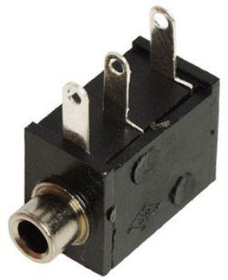 2.5 mm, Right Angle, Mono Jack - PCB Mount