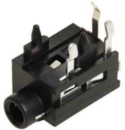 3.5 mm, Right Angle, Mono Jack - PCB Mount