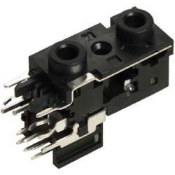 3.5 mm, Right Angle, Dual Mono/Stereo Jack - PCB Mount