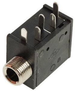 3.5 mm, Right Angle, Mono/Stereo Jack - PCB Mount