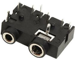 2.5/3.5 mm, Right Angle, Dual Mono/Stereo Jack - PCB Mount