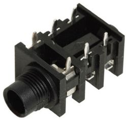 6.3 mm, Right Angle, Mono/Stereo Jack - PCB Mount (Available w/Solder Lugs)