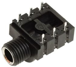 6.3 mm, Right Angle, Mono/Stereo Jack - PCB Mount
