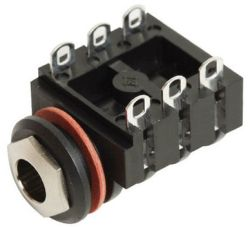 6.3 mm, Right Angle, Mono/Stereo Jack - Panel Mount