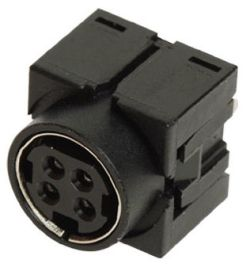 Standard DIN Receptacle, 4 Contacts, Vertical, PCB Mount