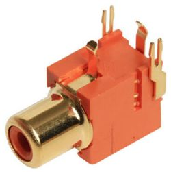1-Port, Right Angle, RCA Jack with Plastic Housing 1