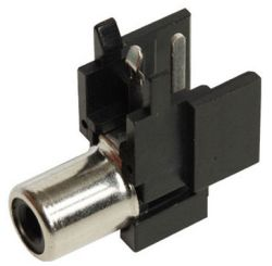 1-Port, Right Angle, RCA Jack with Plastic Housing