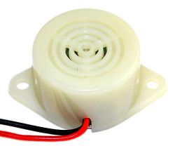 26 mm Solid State Audio Indicator, 20~28 VDC, 79 dB, Continuous, Lead Wires