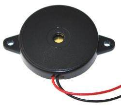 24 mm Piezo Audio Transducer, 30 Vp-p max., 90 dB, 3.8 kHz, Lead Wires