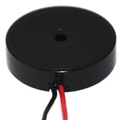 16.5 mm Piezo Audio Transducer, 25 Vp-p max., 80 dB, 5.0 kHz, Lead Wires