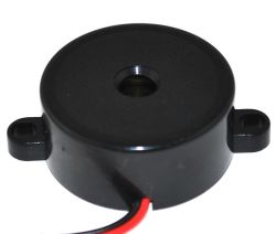 32 mm Piezo Audio Indicator, 3~28 VDC, 85 dB, 3.5 kHz, Continuous, Lead Wires