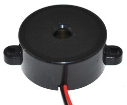 32 mm Piezo Audio Indicator, 3~20 VDC, 96 dB, 3.8 kHz, Continuous, Lead Wires